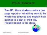 pre ap extension
