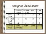 assigned jobclasses