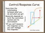 control response curve