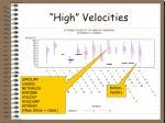 high velocities