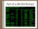 part of a cr csv extract