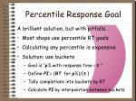 percentile response goal