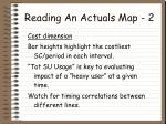 reading an actuals map 2