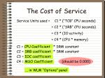 the cost of service