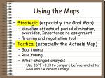 using the maps