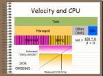 velocity and cpu