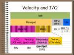velocity and i o