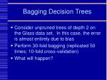 bagging decision trees