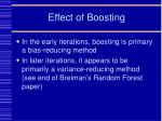 effect of boosting