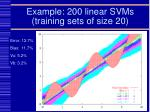 example 200 linear svms training sets of size 20