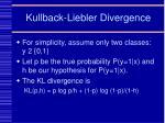 kullback liebler divergence
