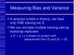measuring bias and variance