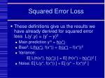 squared error loss