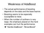 weakness of adaboost