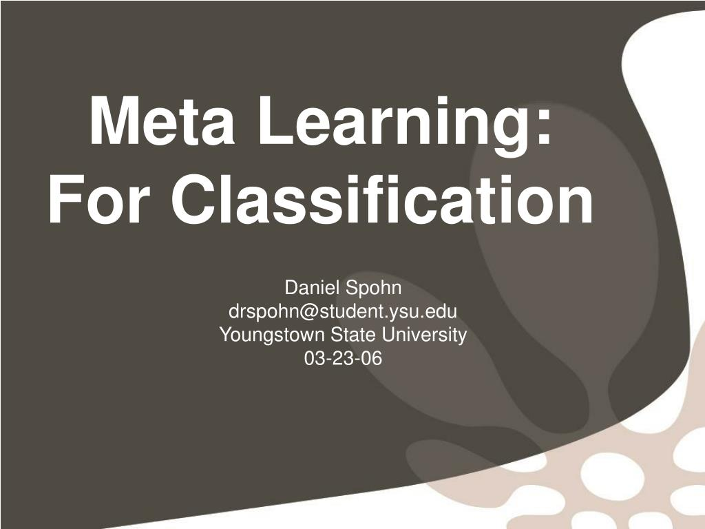 meta learning for classification l.