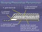 studying photovoltaic performance