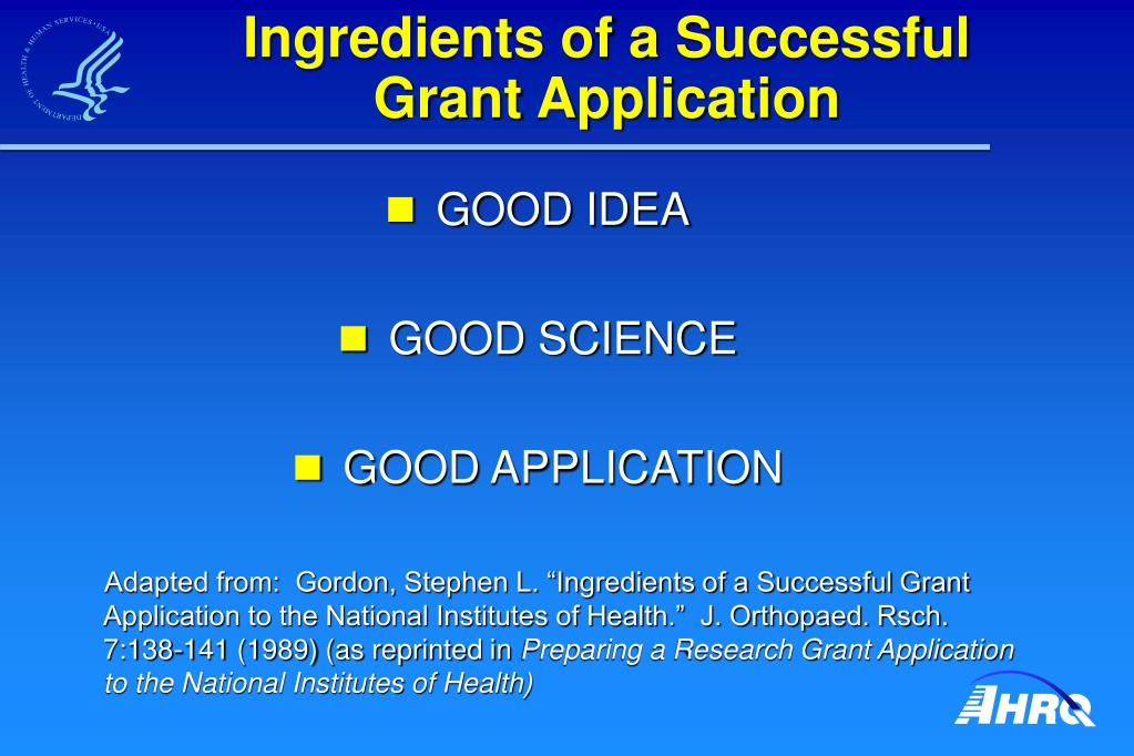 Ingredients of a Successful