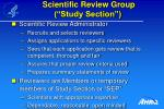 scientific review group study section