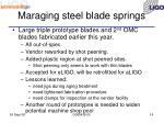 maraging steel blade springs