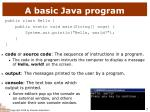 a basic java program
