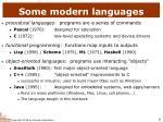 some modern languages