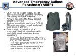 advanced emergency bailout parachute aebp