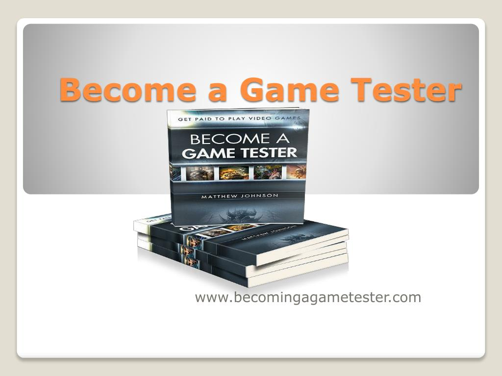 become a game tester l.