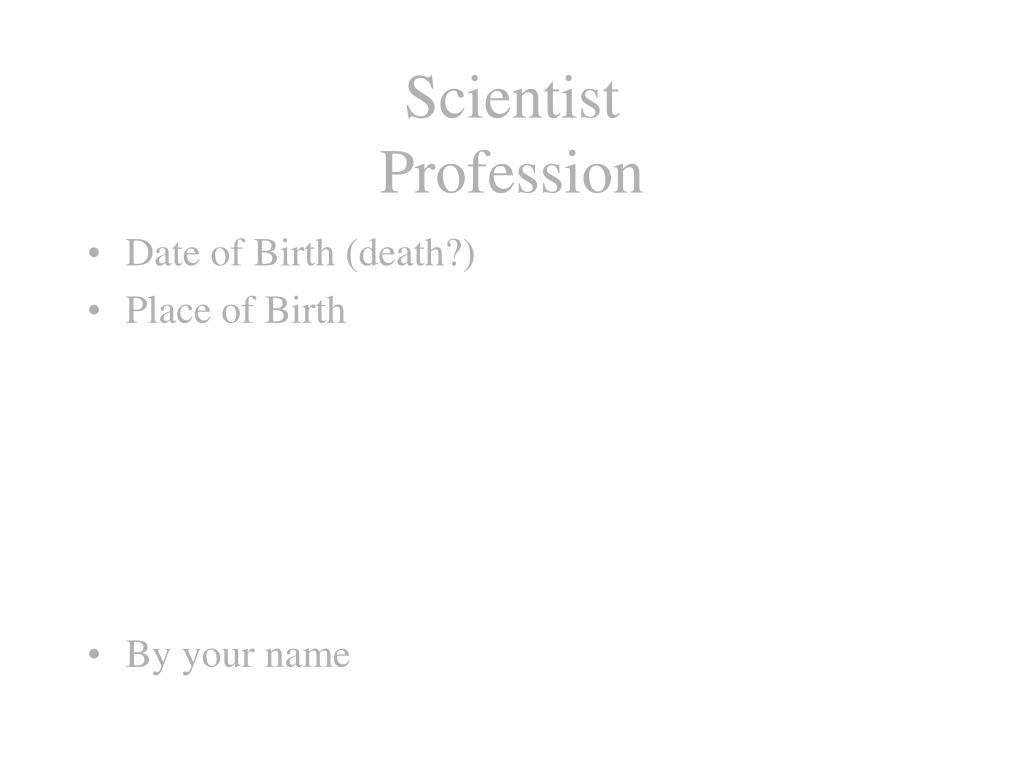 scientist profession l.