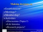 making decision on
