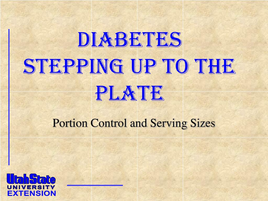 diabetes stepping up to the plate l.