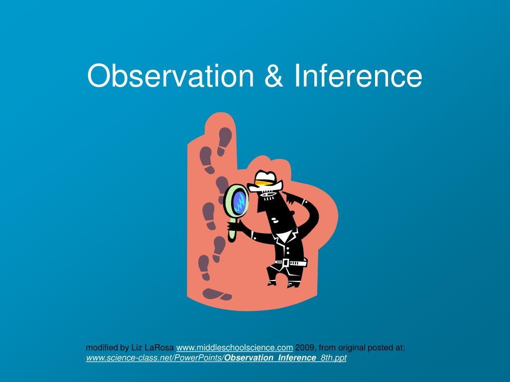 observation inference l.
