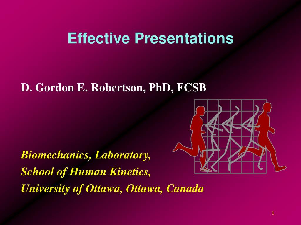 effective presentations l.