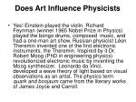 does art influence physicists