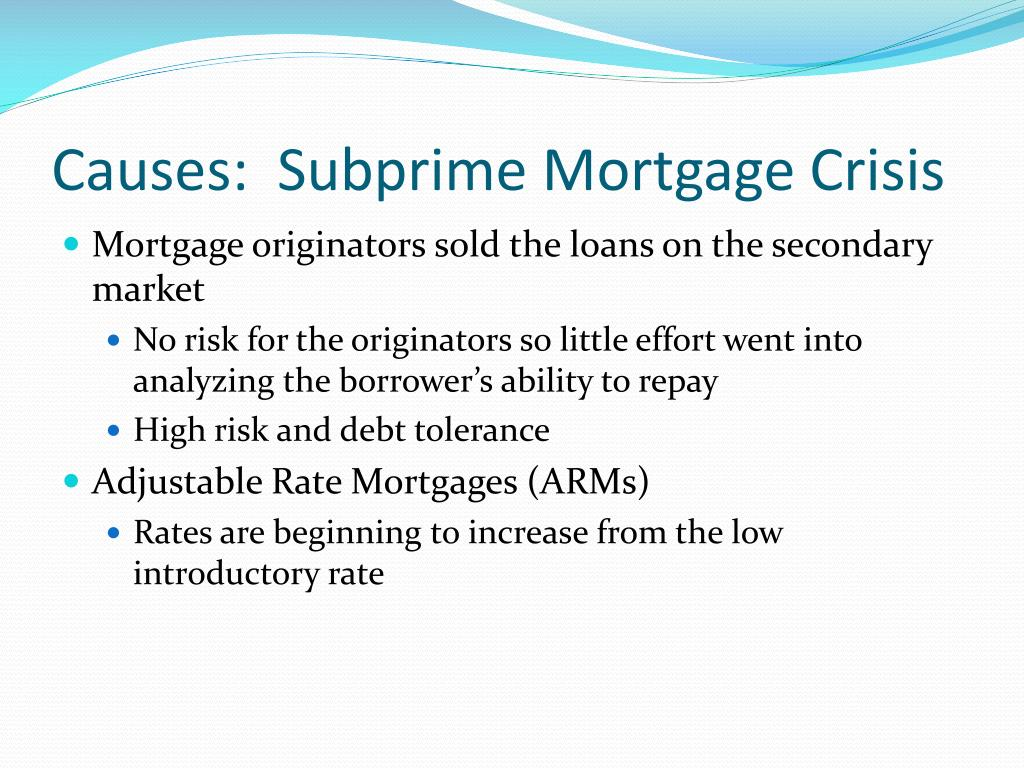 Ppt Current Issue Financial Crisis And Credit Crunch