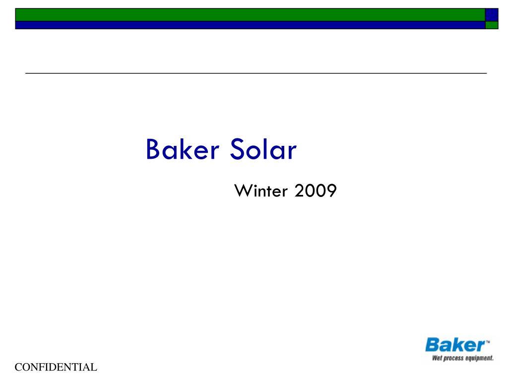 baker solar l.