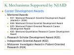 k mechanisms supported by niaid