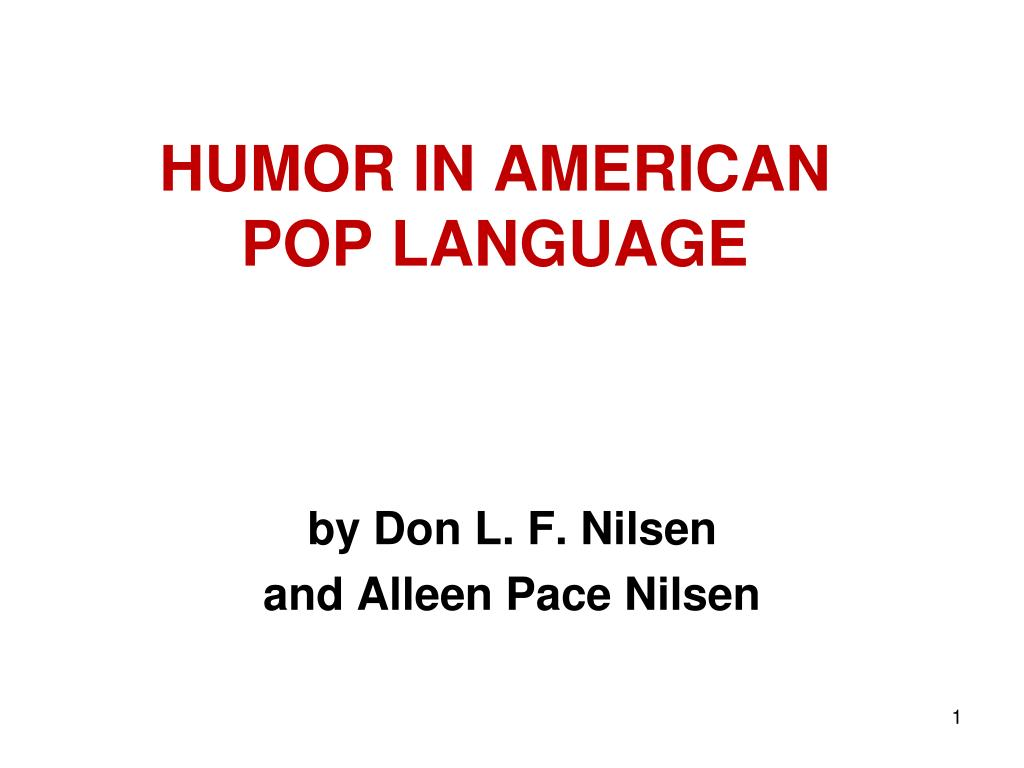 humor in american pop language l.
