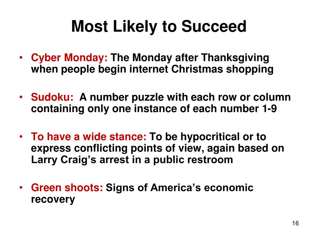 Most Likely to Succeed