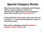 special category words