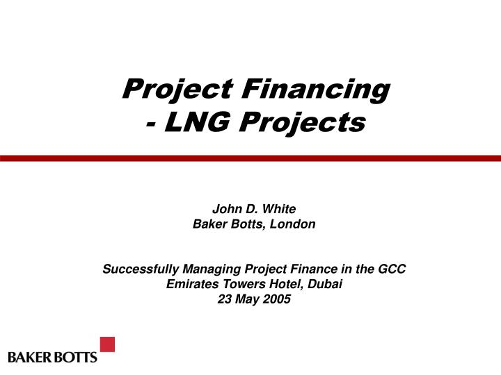 project financing lng projects n.