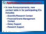 application procedures cont