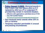 common features effort11