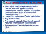 k02 option for res or clin deg