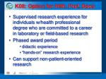 k08 option for hlth prof docs