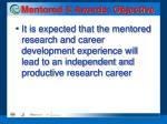 mentored k awards objective