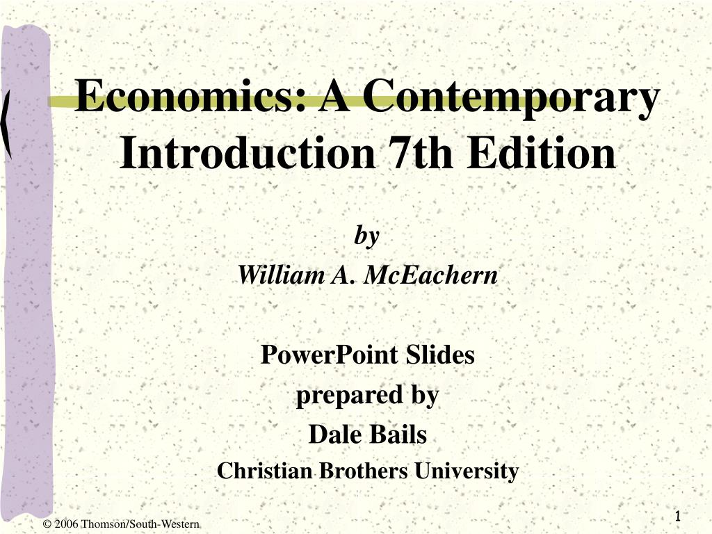 economics a contemporary introduction 7th edition l.