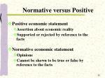 normative versus positive