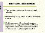 time and information