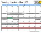 wedding timeline may 2008