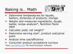 baking is math